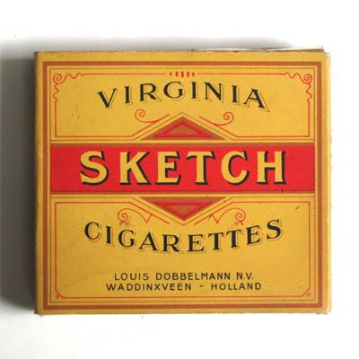Sketch Virginia Cigarettes, Zigarettenschachtel