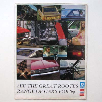 Rootes Cars, Autoprospekt, 1969