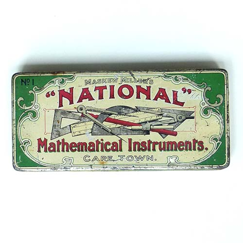 Mathematical Instruments, Blechdose, Cape Town