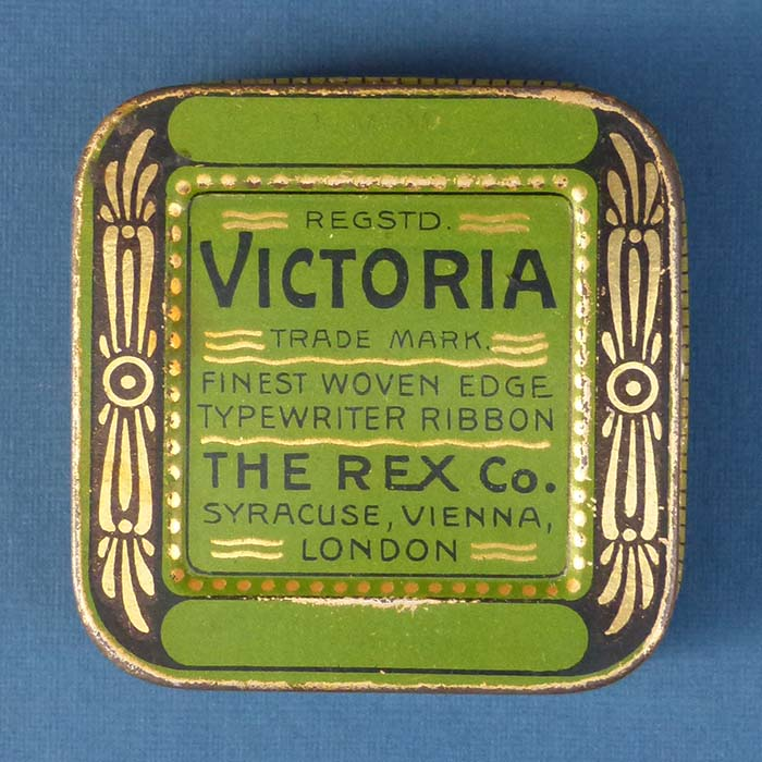 Victoria - The Rex Co., Farbbanddose /  typewriter ribb