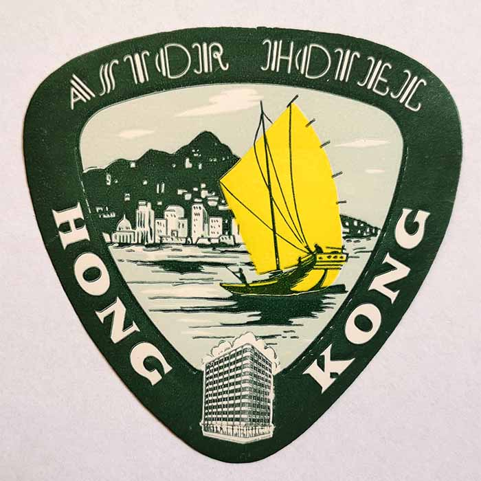 Astor Hotel, Hong Kong, Label, Kofferkleber